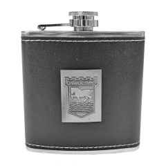 Leather Wrap Hip Flask