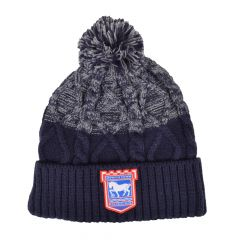 Adult Navy/Grey Cable Beanie