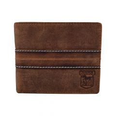 Brown Leather Stitch Wallet
